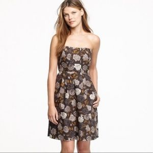 J Crew Floral Strapless Dress